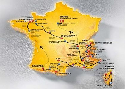 Il percorso del Tour de France 2013