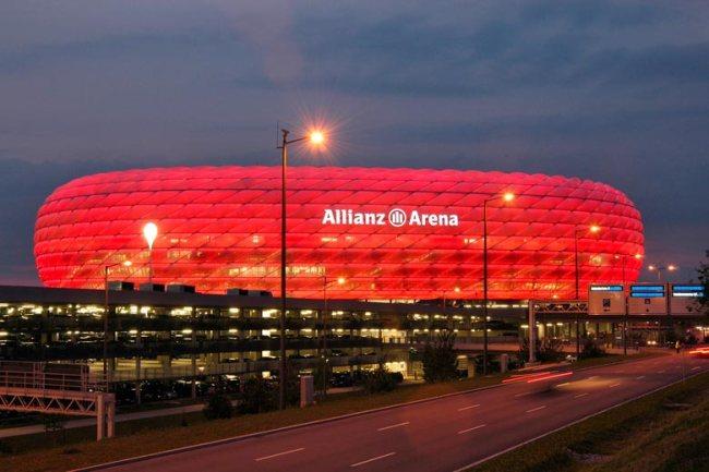 Lo stadio di Monaco di Baviera, l'Allianz Arena