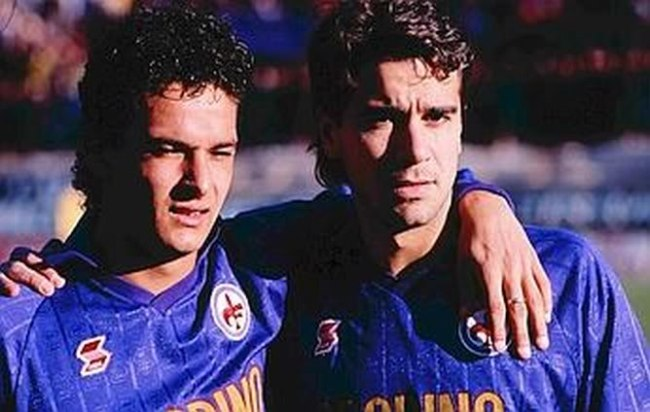 Roberto Baggio e Stefano Borgonovo alla Fiorentina