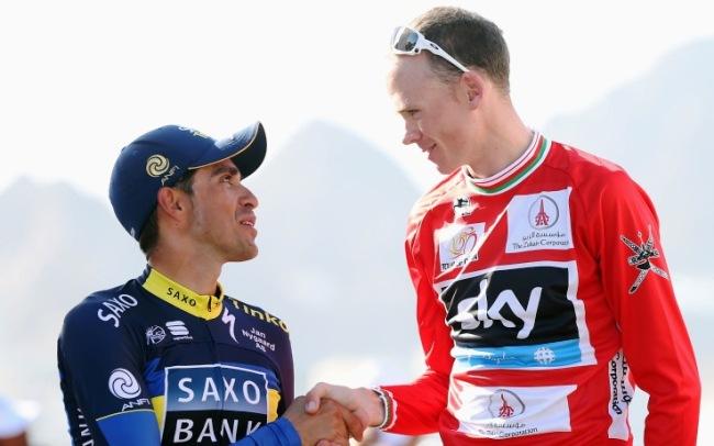 Chris Froome, 28, e Alberto Contador 30, i due candidati alla vittoria del Tour del centenario