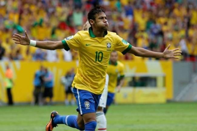 Neymar, autore del fantastico gol dell' 1-0
