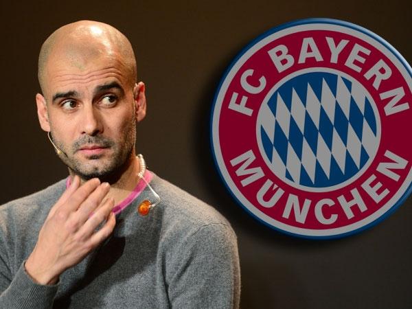 Guardiola, 42, durante la presentazione al Bayern Monaco