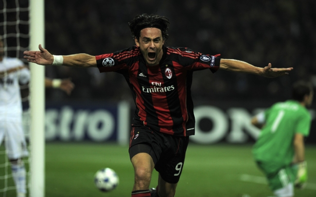 Filippo Inzaghi, attuale allenatore degli Allievi del Milan