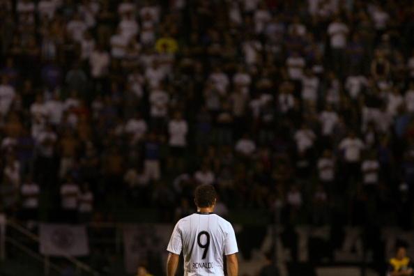 Ronaldo in una delle ultime apparizioni con il Corinthians