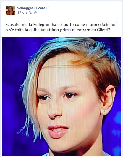 Il post di Selvaggia Lucarelli durante la trasmissione di Giletti