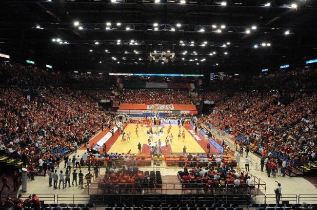 Il Forum di Assago gremito per una partita interna dell'Olimpia Milano
