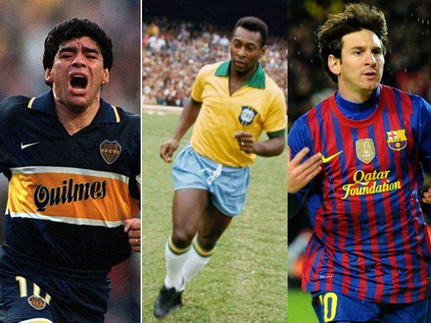 Diego Maradona, Pelè e Leo Messi