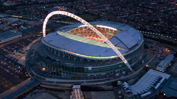 """Una spettacolare veduta aerea del """"tempio"""" inglese del calcio"""
