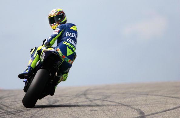 Italian world champion Valentino Rossi o