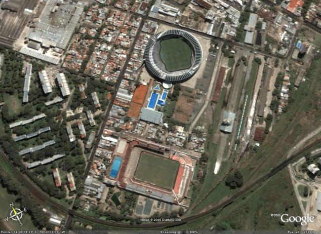 """I due stadi di Avellaneda si """"guardano"""" a 300 metri di distanza"""