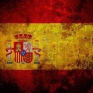 La bandiera della Spagna sporcata