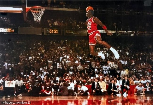 "Michael Jordan ""on air"""