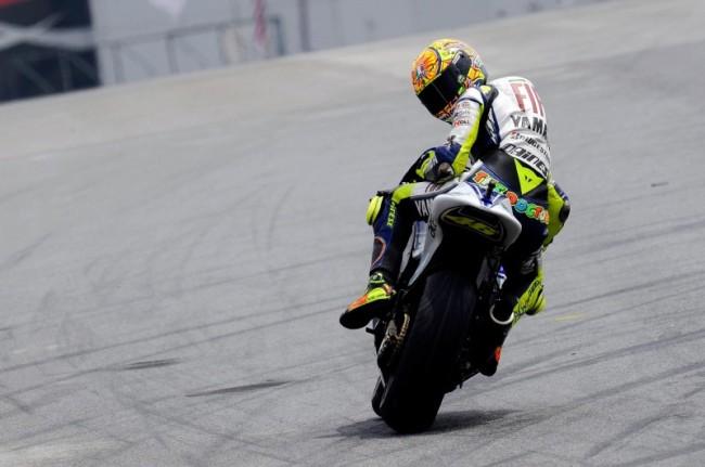 Valentino Rossi sulla Yamaha M1
