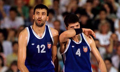 Vlade Divac e Drazen Petrovic